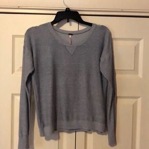 Pewter sweater.